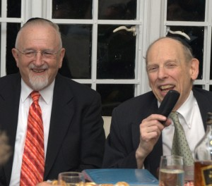 Rabbi Avraham Tanzer Shlit'a and Rabbi Azriel C. Goldfein Zt'l
